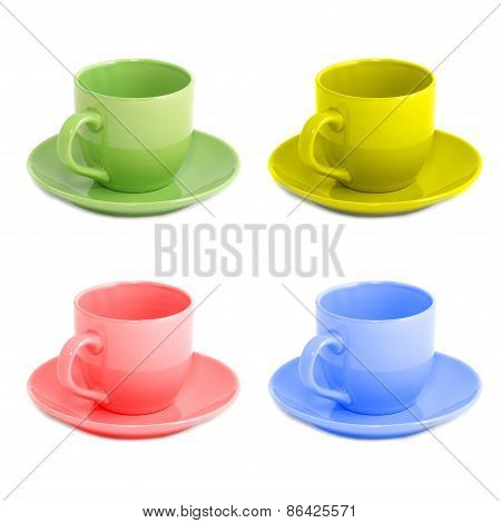 Four Color Teacups
