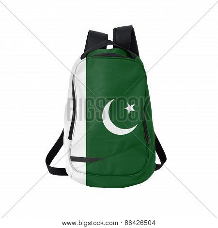 Pakistan Flag Backpack Isolated On White