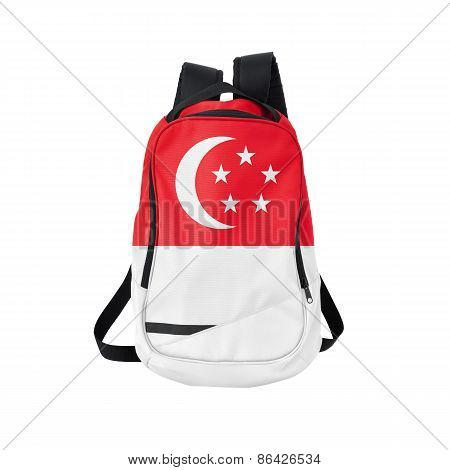 Singapore Flag Backpack Isolated On White