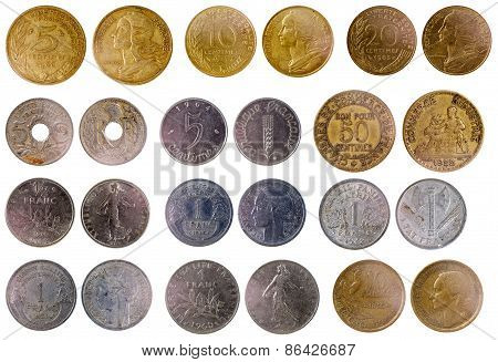 Different Old French Coins