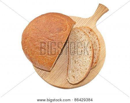 Cut bread with bran