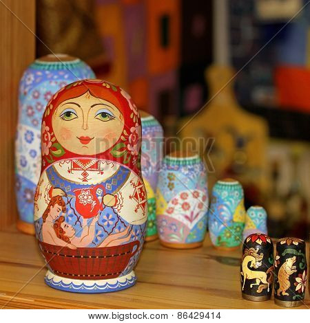 Matryoshka traditional Russian souvenir