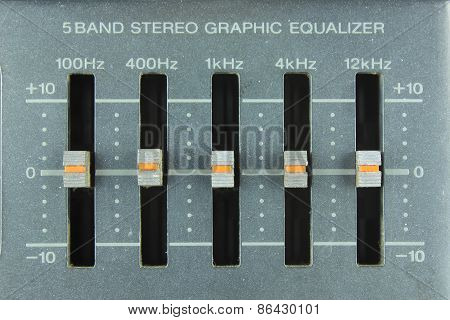 Analog Graphic Equalizer on radio