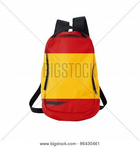 Spain Flag Backpack Isolated On White