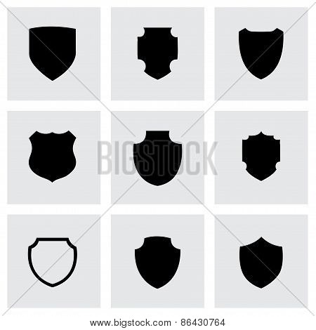 Vector shield icon set