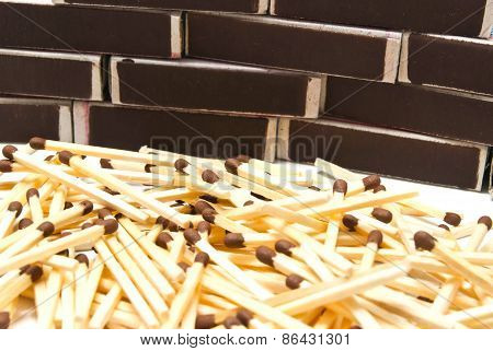 Matches And Many Matchbox