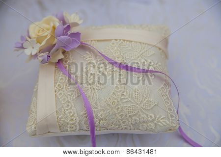 Lace Pillow For Wedding Rings