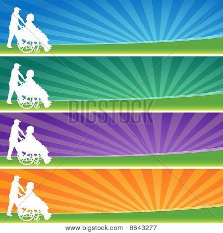 Banner Set Wheelchair Female