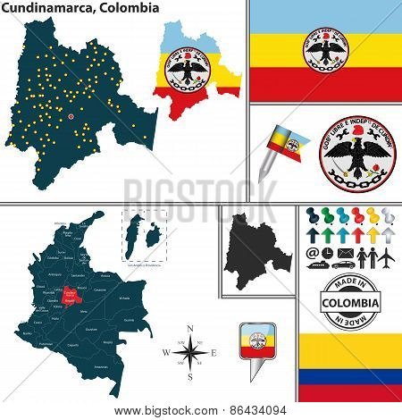 Map Of Cundinamarca, Colombia