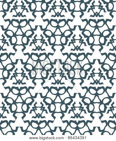 Psychedelic Abstract Monochrome Seamless Pattern.