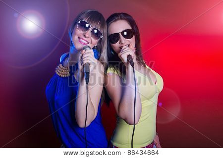 Woman Singing On The Party