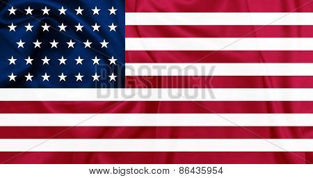 American Civil war - The United States of America from 1861 to 1863 Union (North) waving flag with s
