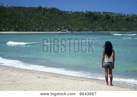 Philippines Tropical Beach Girl