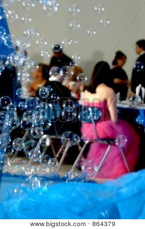 Bubbles Highlight Prom Night