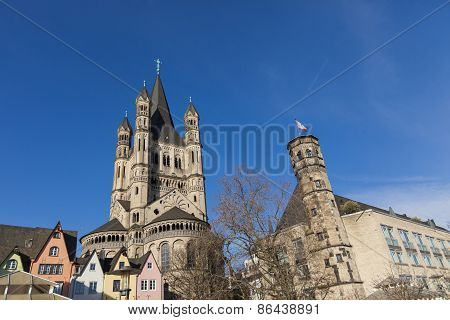 Great St. Martin Church In Cologne, Germany
