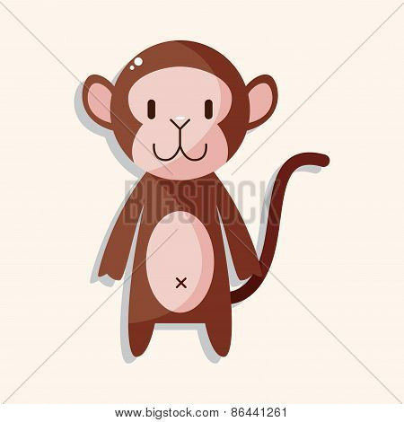 Animal Monkey Cartoon Theme Elements