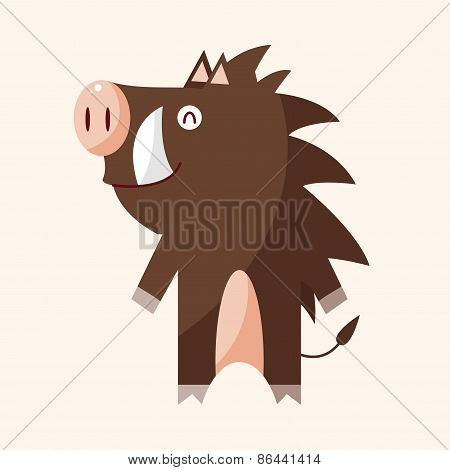 Animal Wild Pig Cartoon Theme Elements