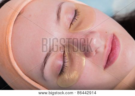 Girl with a beautician at spa salon