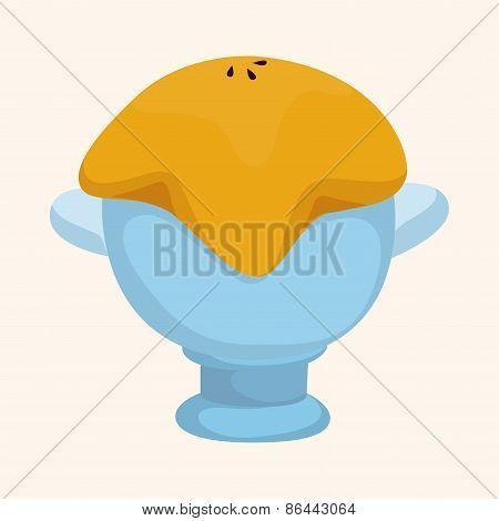 Corn Chowder Soup Theme Elements