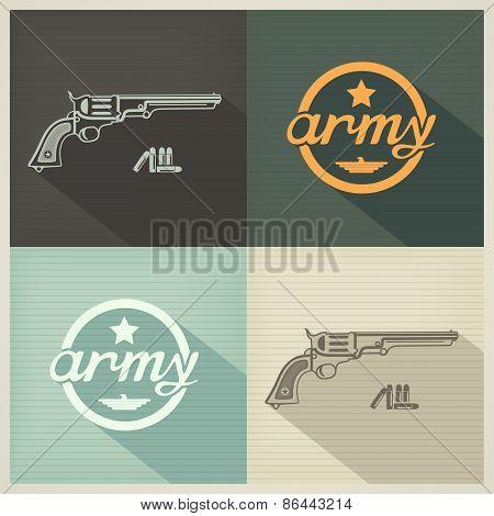 Military flat design