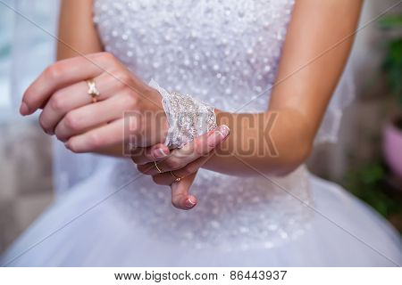 Hands Of The Bride Close-up