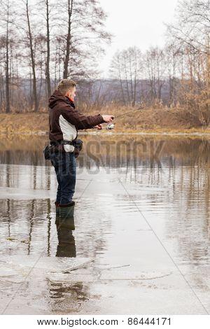 Winter fishing on spinning