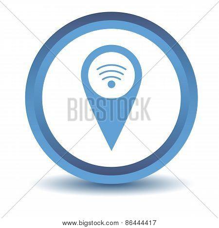 Blue Wi-fi pointer icon