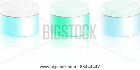 Cosmetic bottle for cream, gel, powder