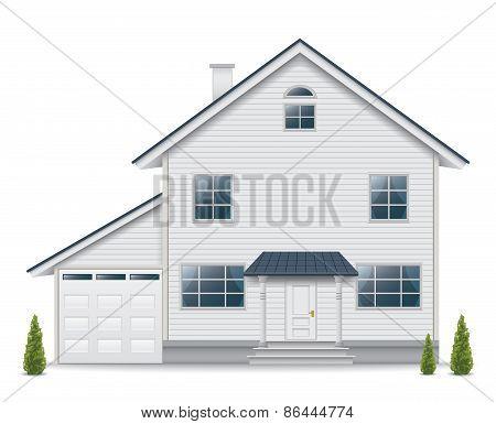 House isolated on white background
