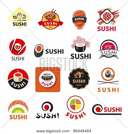 Biggest Collection Of Vector Icons Sushi