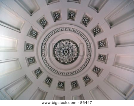 Unitarian Church Ceiling In Quincy Massachusetts
