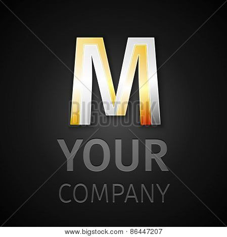 Abstract Vector Logo Letter M