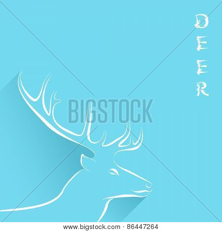Background With Head Of Deer