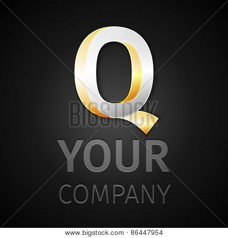 Abstract Vector Logo Letter Q