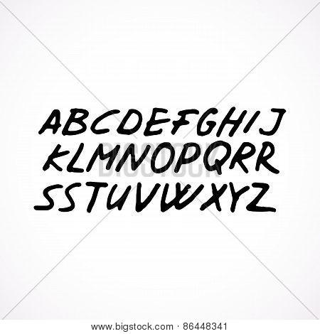 Hand drawn grunge font