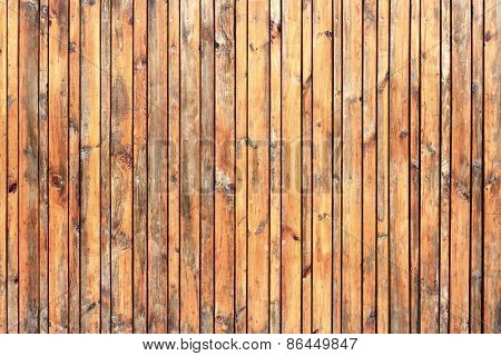 closeup of wall made of wooden planks