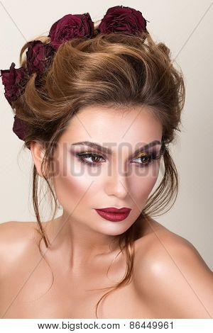 Beauty Portrait Of Adult Woman