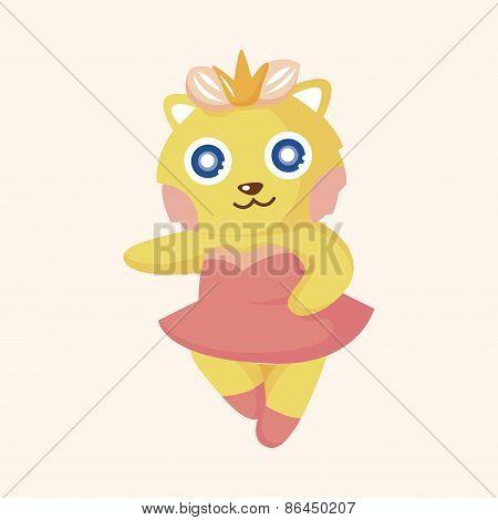 Animal Cat Dancing Cartoon Theme Elements