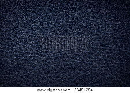 Dark Bule Leather Background