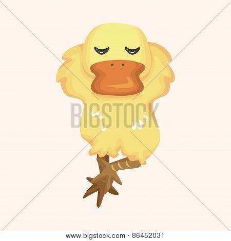 Animal Duck Cartoon Theme Elements