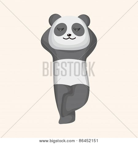 Animal Panda Cartoon Theme Elements