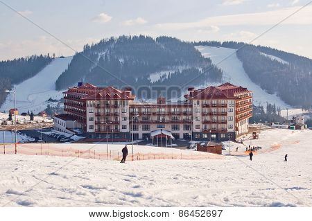 Bukovel Ski Resort. Ukraine