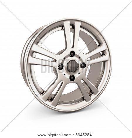 Wheel Rim On A White