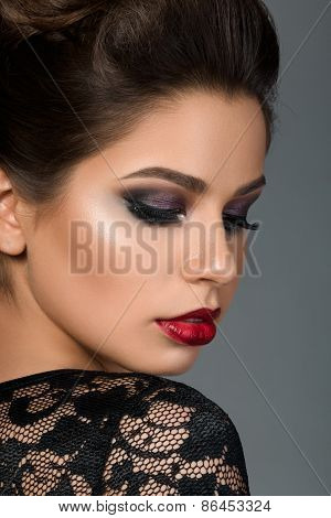 Beauty Portrait Of Young Beautiful Woman