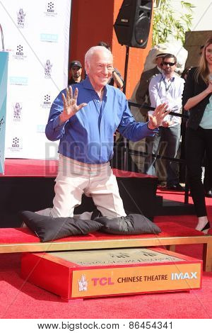 LOS ANGELES - MAR 27:  Christopher Plummer at the Christopher Plummer Hand and Foot Print Ceremony at the TCL Chinese Theater on March 27, 2015 in Los Angeles, CA