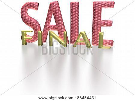Three-dimensional Inscription Final Sale