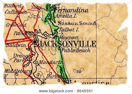 Jacksonville Old Map