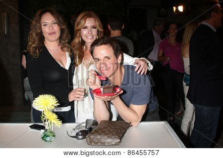 LOS ANGELES - MAR 26:  Catherine Bell, Tracey Bregman, Christian LeBlanc at the Young & Restless 42nd Anniversary Celebration at the CBS Television City on March 26, 2015 in Los Angeles, CA