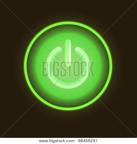 Green neon vector button vector illustration