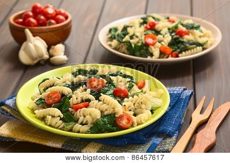 Fusilli Pasta with Chard and Tomato